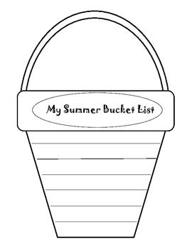 Pail and shovel writing template for Sand bucket template