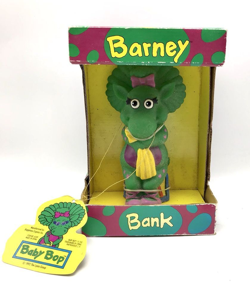 Barney Baby Bop Bank TV Show Character Child's Savings Toy