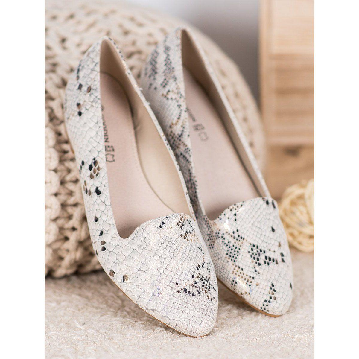 Goodin Baleriny Snake Print Bezowy Wedding Shoe Shoes Flats