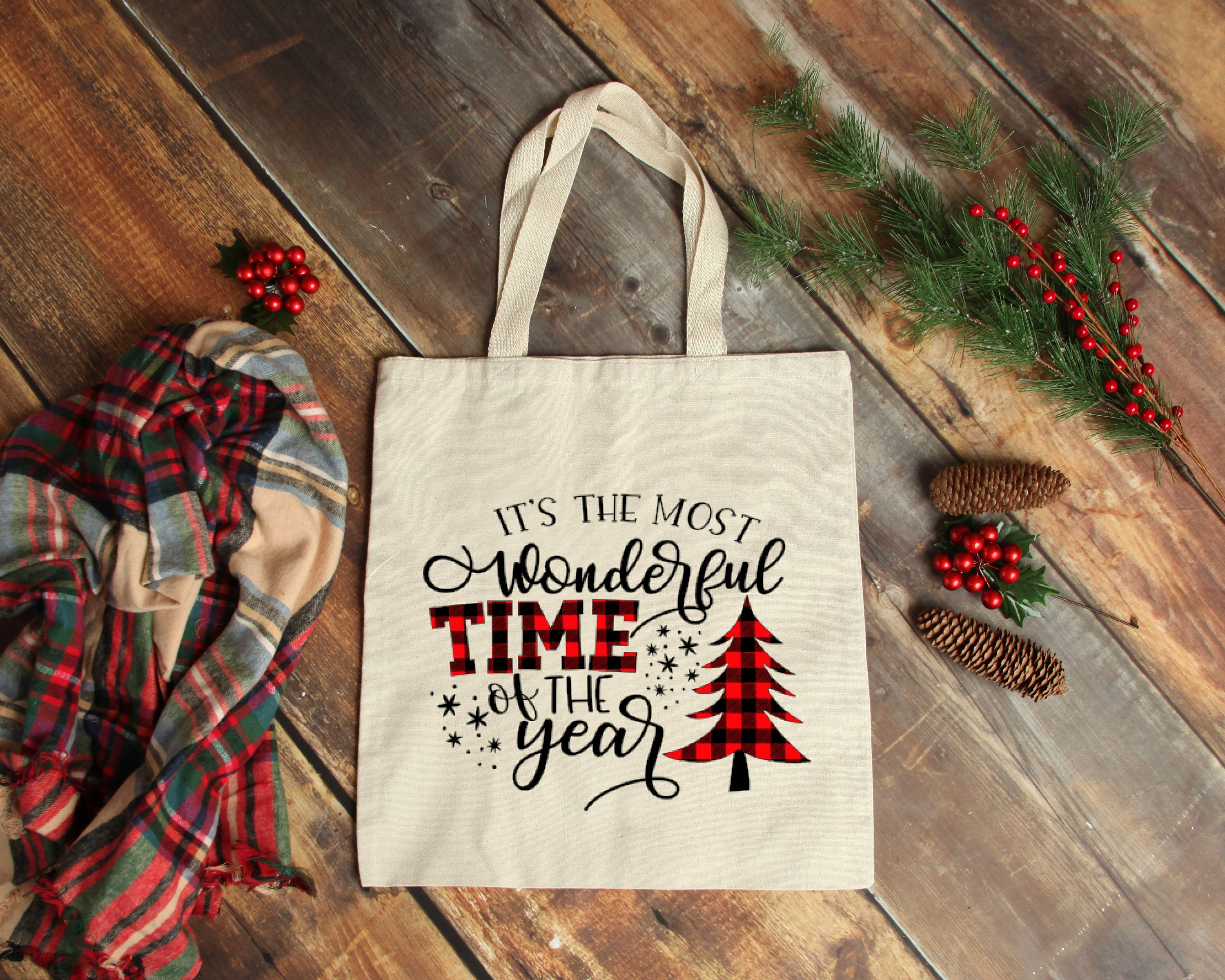 Download It S The Most Wonderful Time Of The Year Tote Christmas Etsy Christmas Tote Bags Christmas Tote Blank Tote Bag