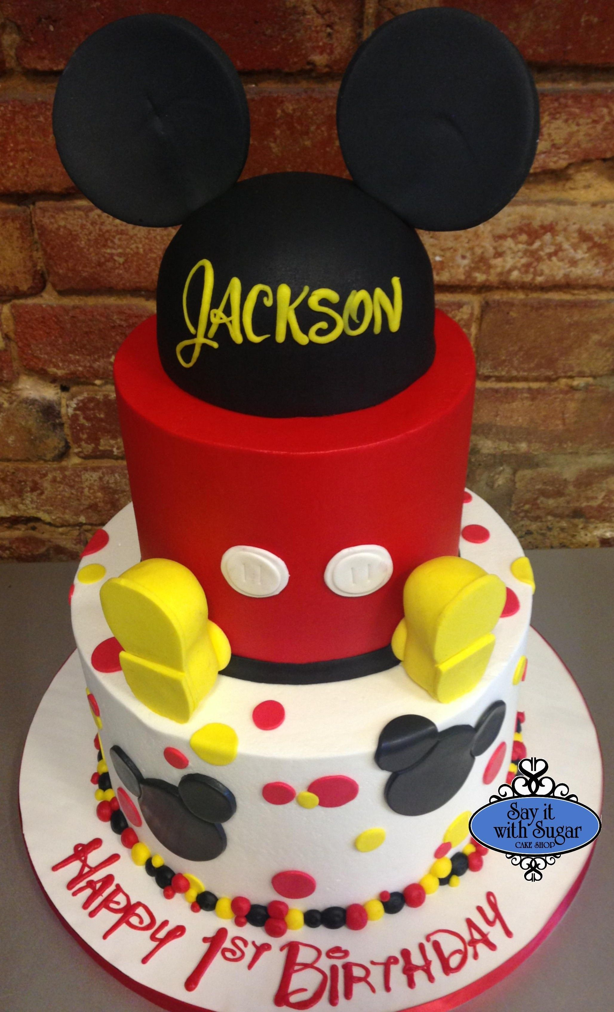 Mickey Mouse Cake Fondant Cake Ideas Mickey Birthday
