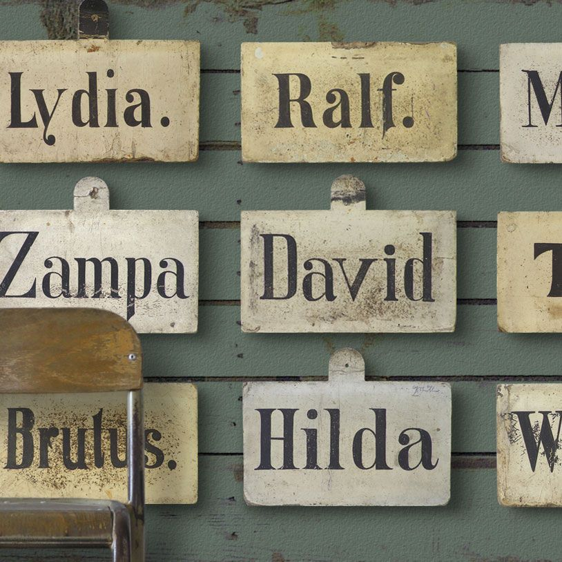 Antique racehorse stable name signs, c. 1900  TheVintageWall.com