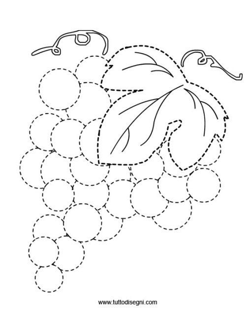 Uva da colorare tutto disegni disegni da colorare - Numero di fogli di lavoro per bambini ...