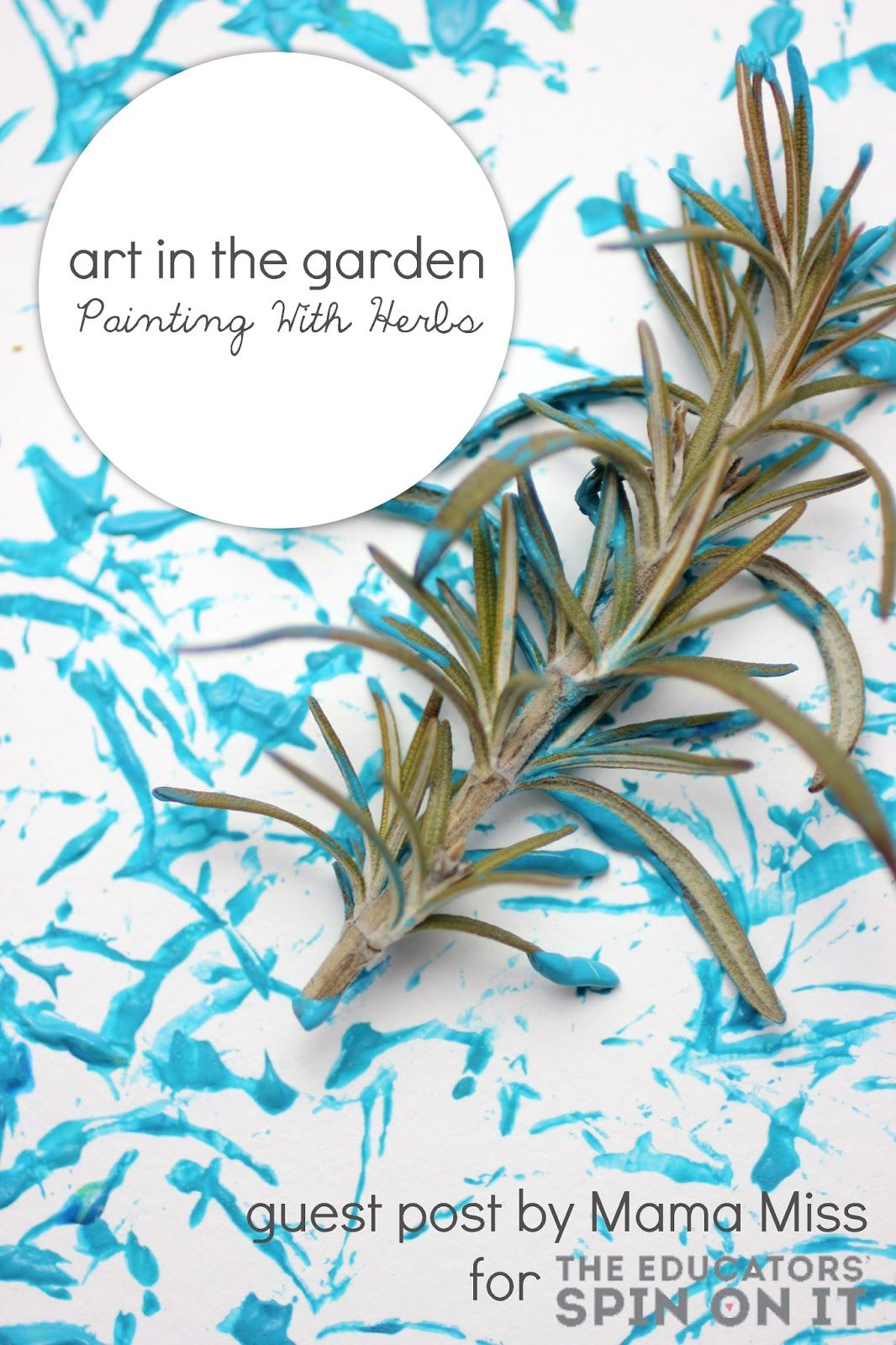 Art In The Garden Herb Painting Activity