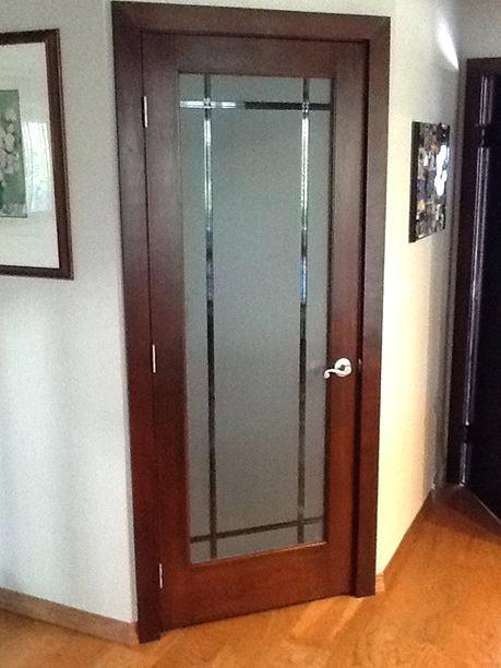 Etched Glass Door For Office Glazen Deur Design Glas