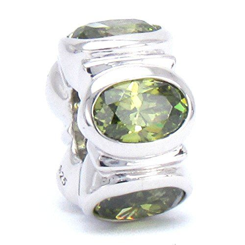 BELLA FASCINI® Oval CZ Lights Sterling Silver Charm Bead Fits Pandora & Compatible Brands (Green) Bella Fascini http://www.amazon.com/dp/B019BVZ1AM/ref=cm_sw_r_pi_dp_bMH3wb0VV7DFJ