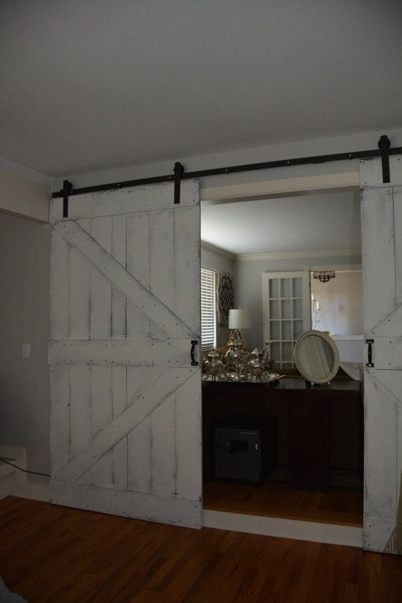 All Custom Made Sliding Barn Doors For A Modern Or Rustic Look For Your Home Or Business These Are Solid Inte Barn Door Custom Barn Doors Solid Interior Doors