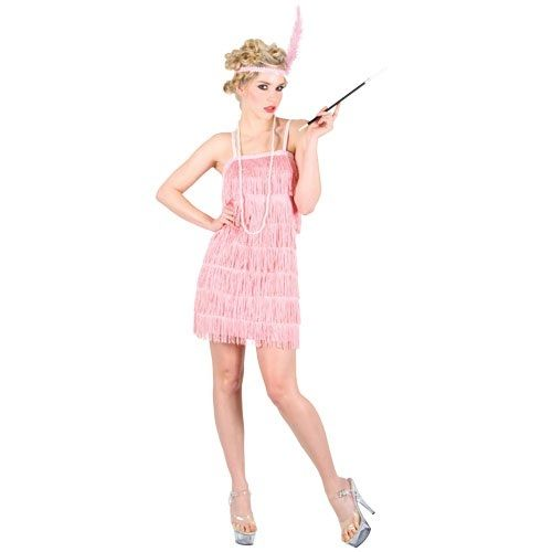 Showtime Flapper Girl 20/'s 1920s Charleston Womens Adult Fancy Dress Costume