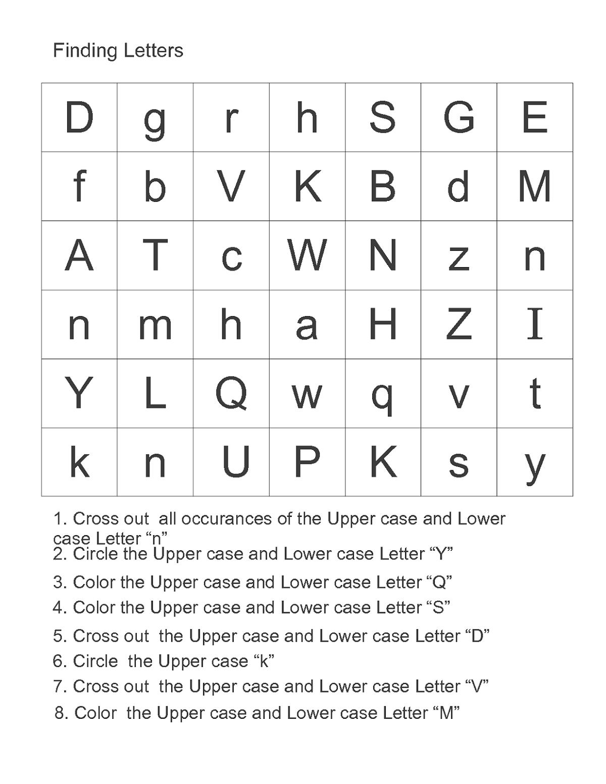 Printable Abc Alphabet Worksheets For Kids