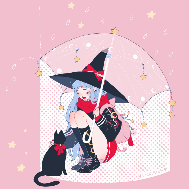 February Postcard + Sticker ☆// Rainy Afternoon в 2020 г