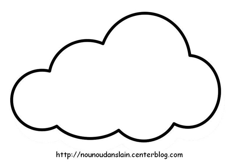 Coloriage Nuage à Colorier Dessin à Imprimer Cloud