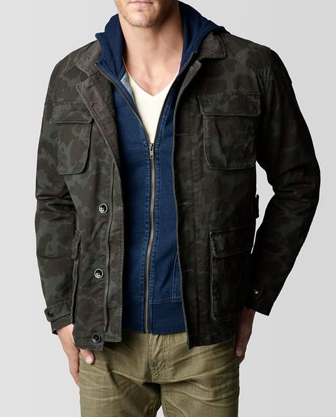 8c3b08a8c8dd5 TRUE RELIGION CAMO COATED MILITARY MENS JACKET | Surplus | Mens wool ...