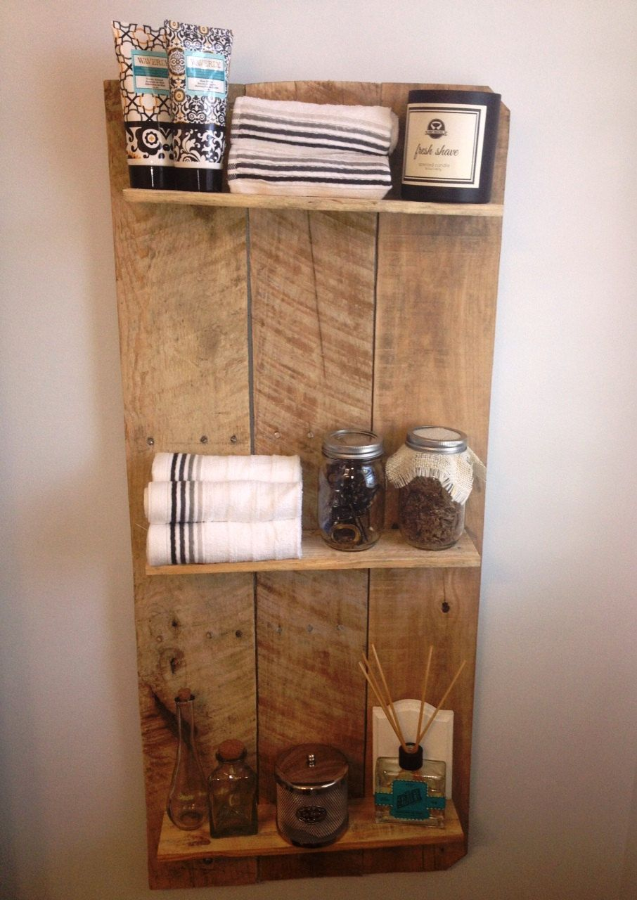 Rustic and Reclaimed Wooden Shelving Unit Wooden