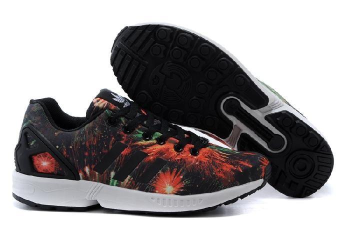 adidas zx flux czarny wzór fajerwerki dla męskie casual buty 285.79zł