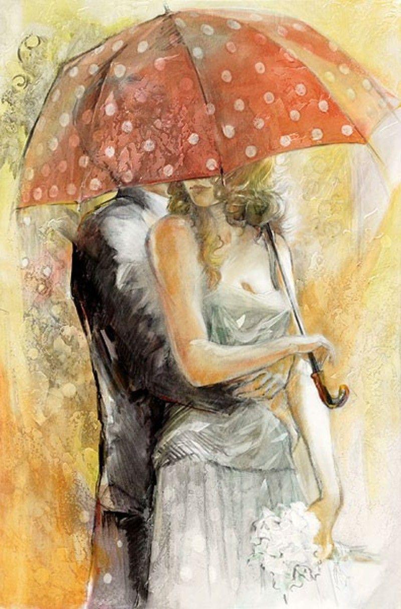 Картинки нежность романтика рисованные