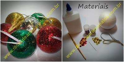 Faça as suas próprias bolinhas para árvore de natal personalizadas | Revista Artesanato