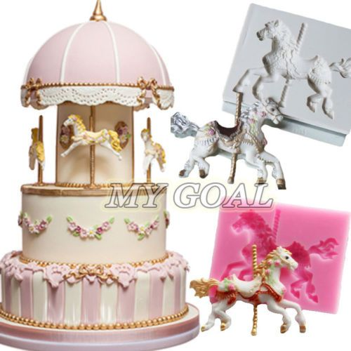 Silicone Carousel  Horse mould for cake decorating