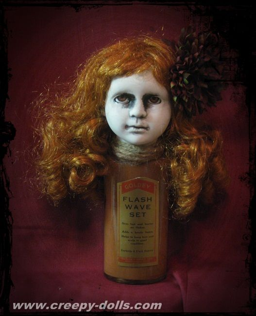Creepy Bottle Doll. Available now. USA shipping is included in the price. http://store01.prostores.com/servlet/creepydolls/the-2091/Creepy-Bottle-Doll-Bastet2329/Detail