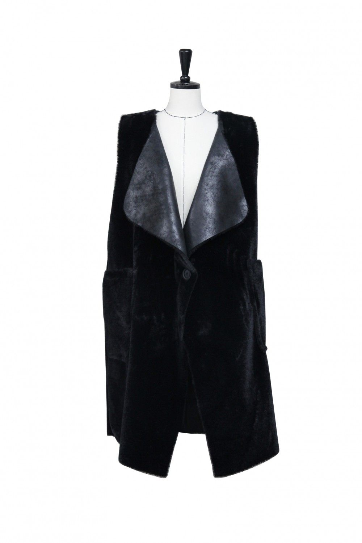 Faux Mustang Leather Long Vest