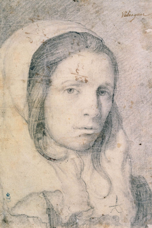 Diego Velázquez Busto De Una Chica Joven C 1618 Biblioteca Nacional De España Drawings Portrait Drawing Art