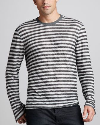 Double-Face Striped Sweater by 7 For All Mankind at Neiman Marcus.