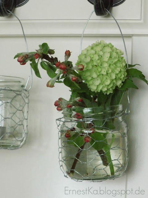 ErnestKa: Sommerliche Mini Vasen und Windlichter und einen Happy Friday Flowerday