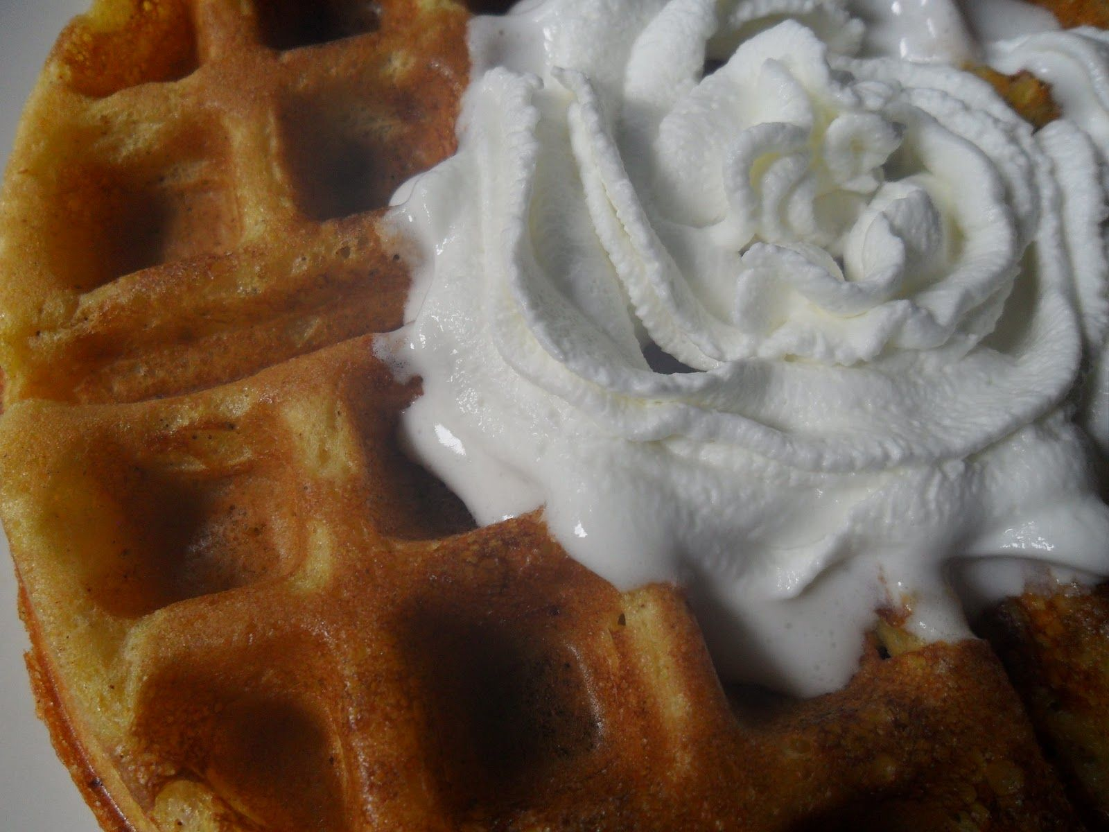 hot belgian waffels with melting butter | Pumpkin Belgian Waffles with Yeast leavened