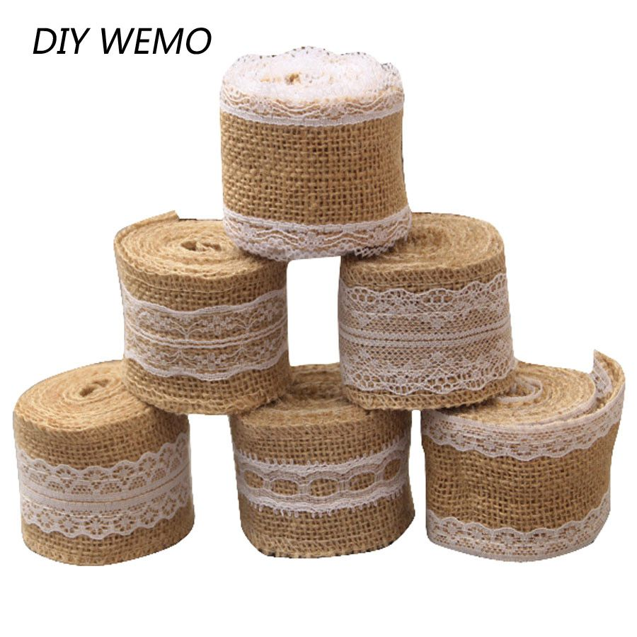 Cheap hessian ribbon buy quality burlap wedding directly from china cheap hessian ribbon buy quality burlap wedding directly from china burlap roll suppliers 2 meter 5cm jute burlap rolls hessian ribbon with lace rustic junglespirit Choice Image