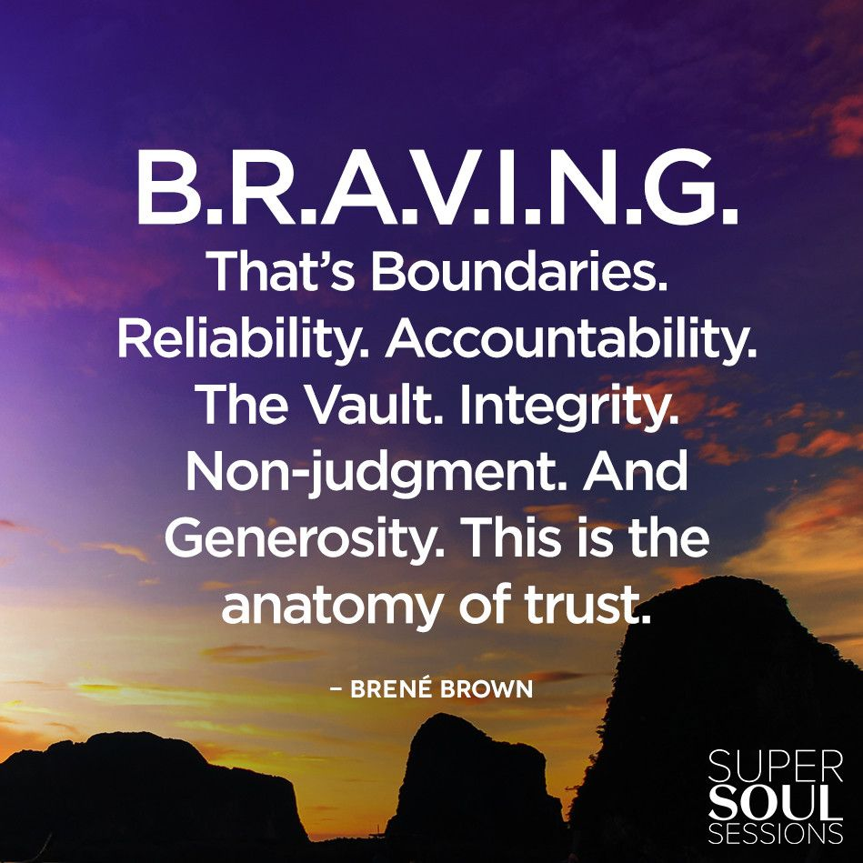 Brene Brown Quote about Qualities of Truth B.R.A.V.I.N.G. That\'s ...