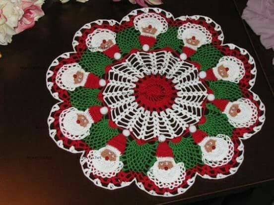 Pin von Crochês Oeste auf cai | Pinterest | Weihnachtsdecke ...