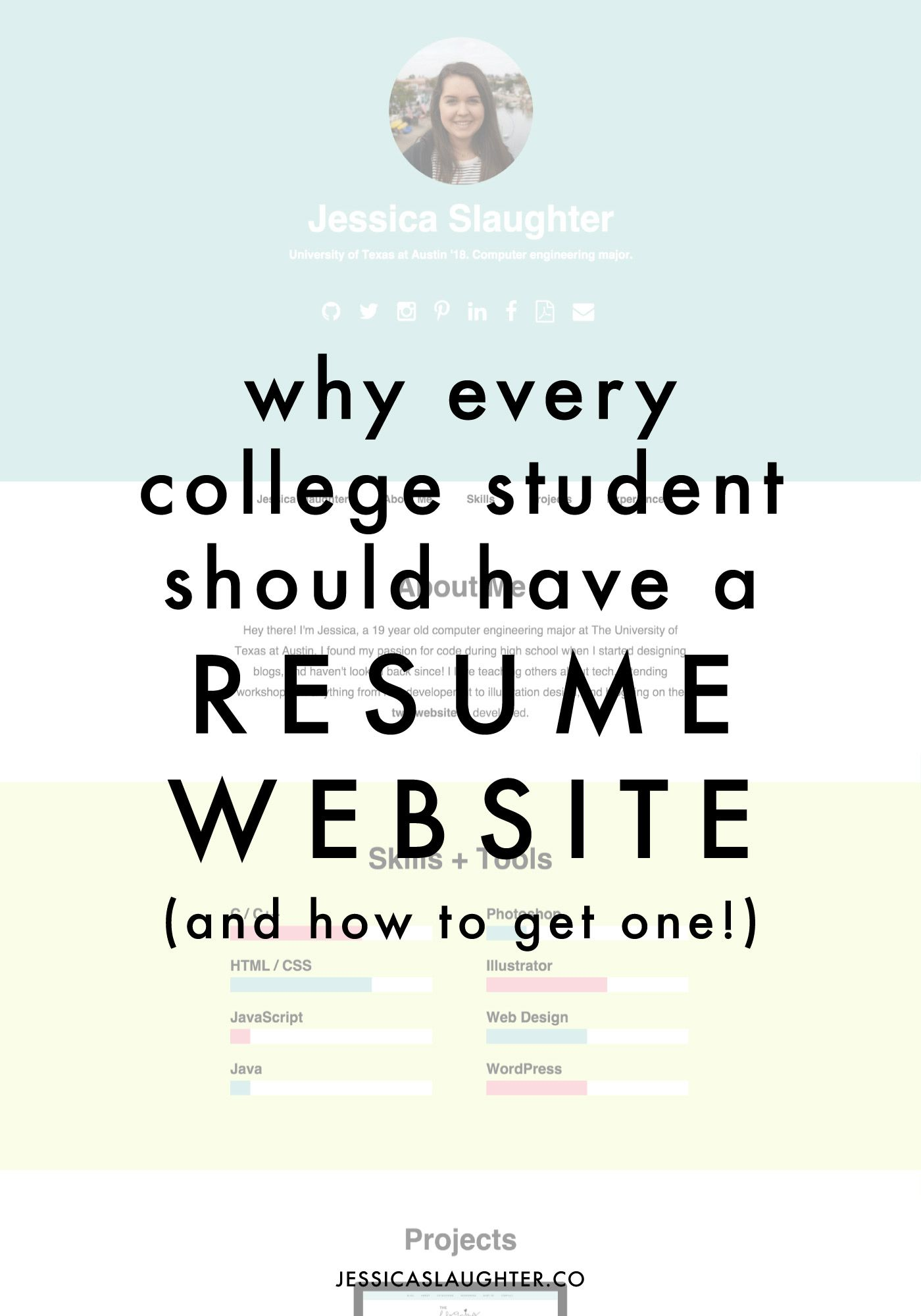 Why Every College Student Should Have A Resume Website | Students ...