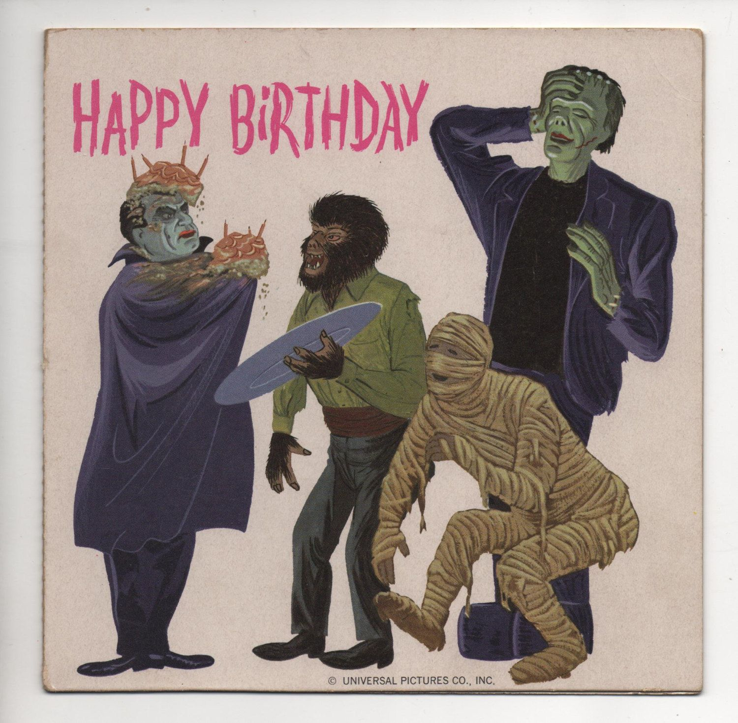 Vintage universal monsters birthday record google search happy vintage universal monsters birthday record card by wolfmansmummy kristyandbryce Image collections