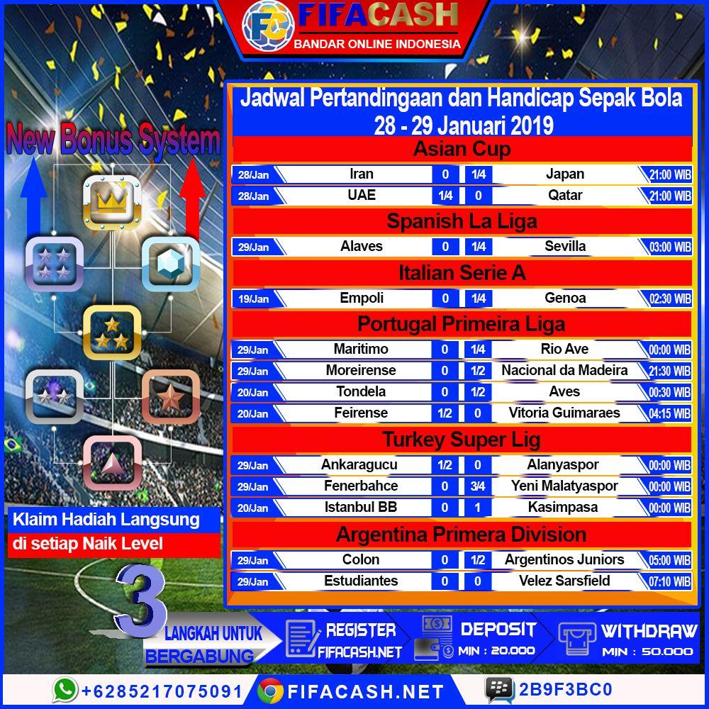 Jadwal pertandingan sepak bola hari ini : 28-29 Januari ...