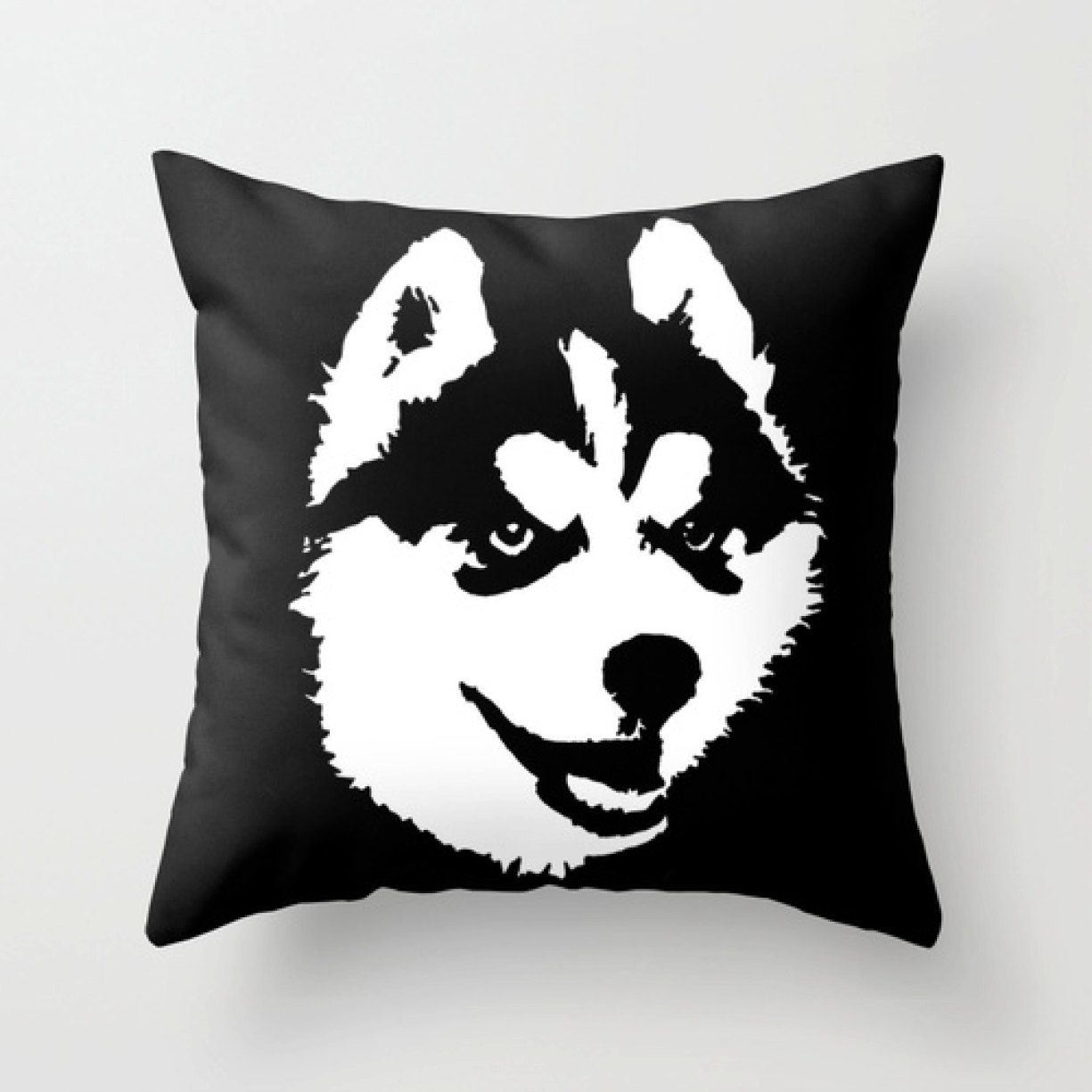 Siberian husky pillow custom dog pillow black white nursery decor