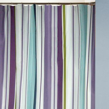 Hudson Stripe Fabric Shower Curtain Jcpenney Clearance 14 00