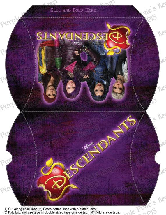 Disney Descendants Birthday Favor Pillow Box