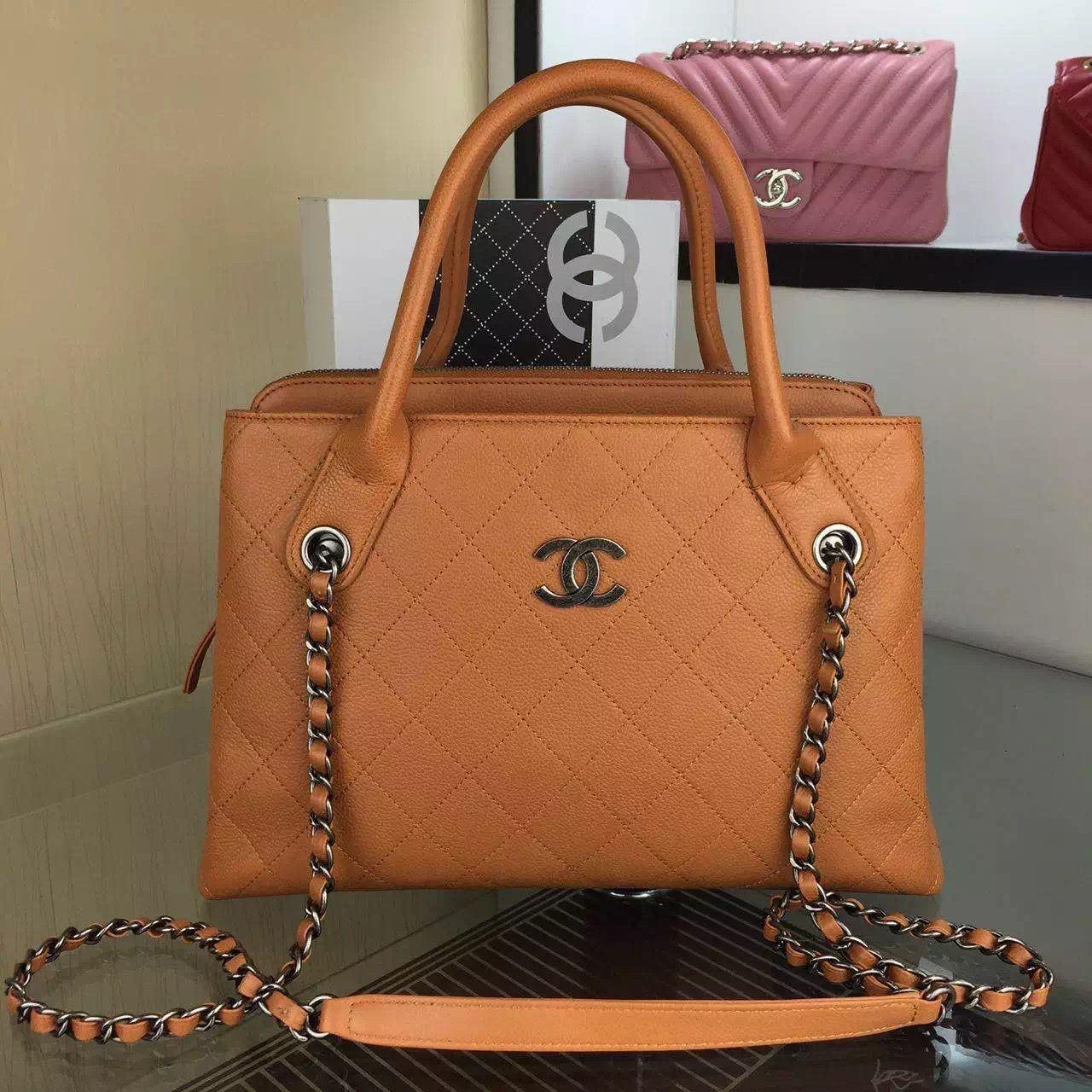 24b285569c32 Chanel Small Grained Vegetal Calfskin Shopping Bag Cruise 2016 ...