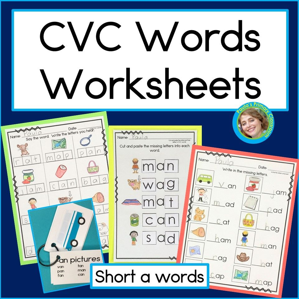 Cvc Phonics Worksheets For Short A Words Preschool Kindergarten Emergent Readers And Writers Cvc Words Reading Cvc Words Kindergarten Word Families [ 960 x 960 Pixel ]