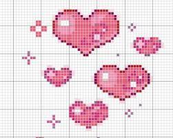 Risultati immagini per schema cuore a punto croce for Idee punto croce neonati