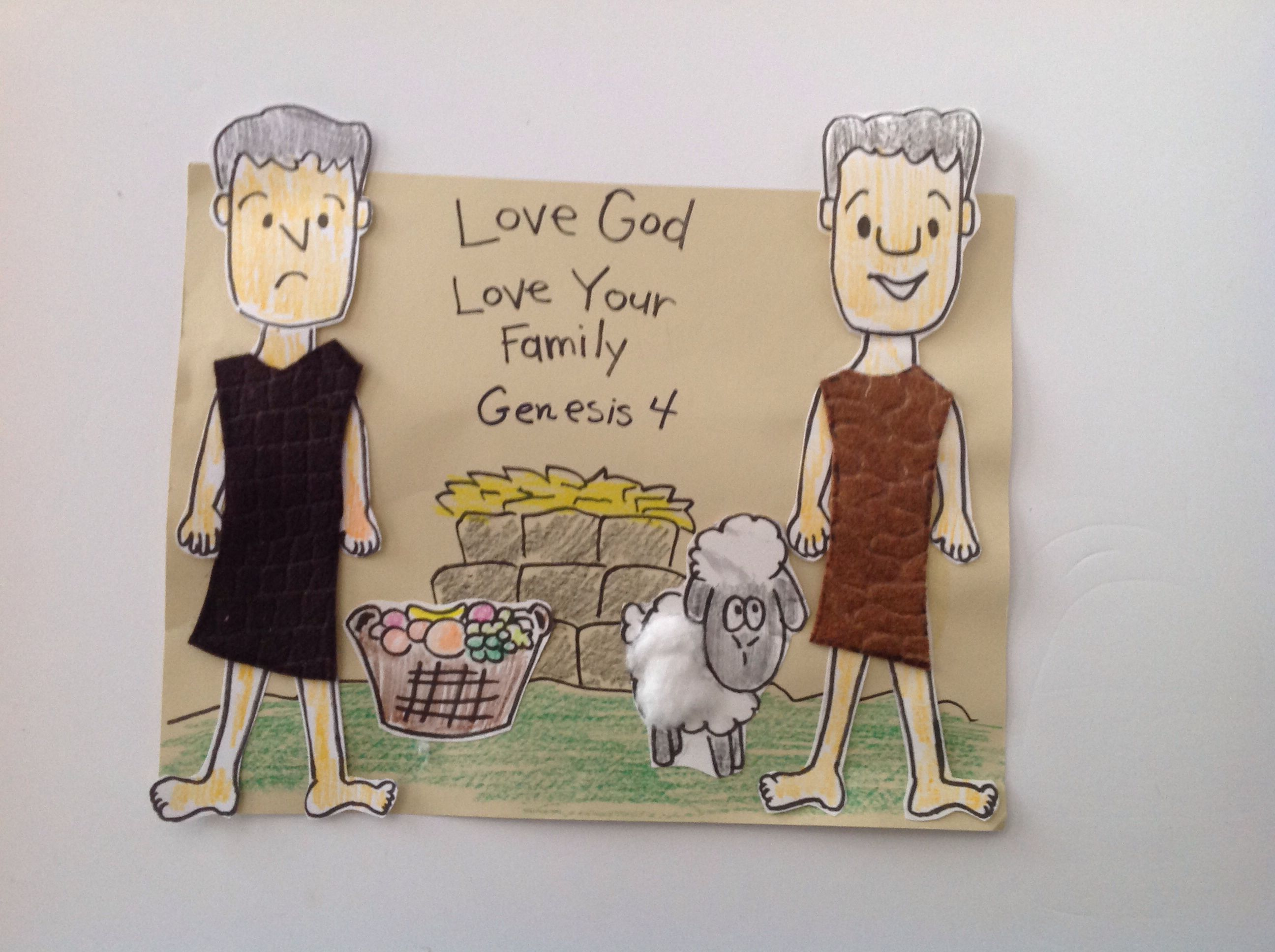 Crafts for sunday school lessons - Cain And Abel Craft Idea This Craft Idea Will Help You Prepare Your Sunday School Lesson On Genesis On The Bible Story Of Cain And Abel