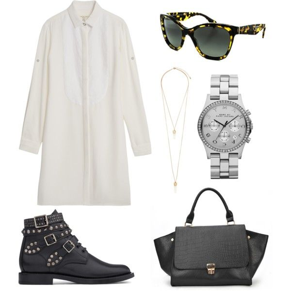 """""""white shirt dress."""" by charlieandfog on Polyvore"""