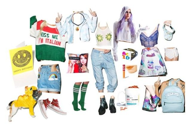"""Hannahween"" by binxborealis on Polyvore featuring This Is a Love Song, Widow, Converse, Gift Republic, T.U.K., Wicked Hippie and Joyrich"