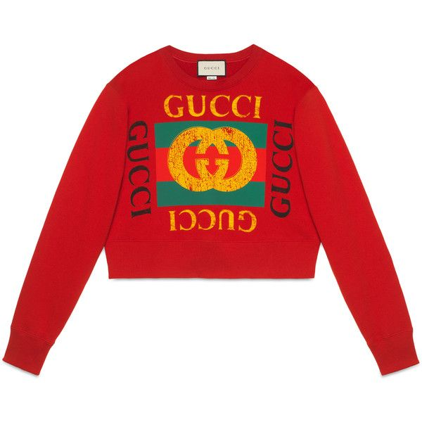 ef47b85c Gucci Women'S Sweatshirt With Gucci Logo ($1,395) ❤ liked on Polyvore  featuring tops, hoodies, sweatshirts, ready-to-wear, sweatshirts & t-shirts,  women, ...