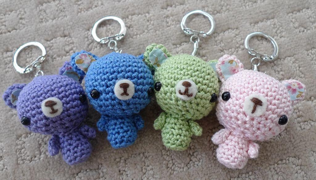 Crochet Amigurumi Keychain Free Pattern : Teddy bear keychains keychains teddy bear and bears