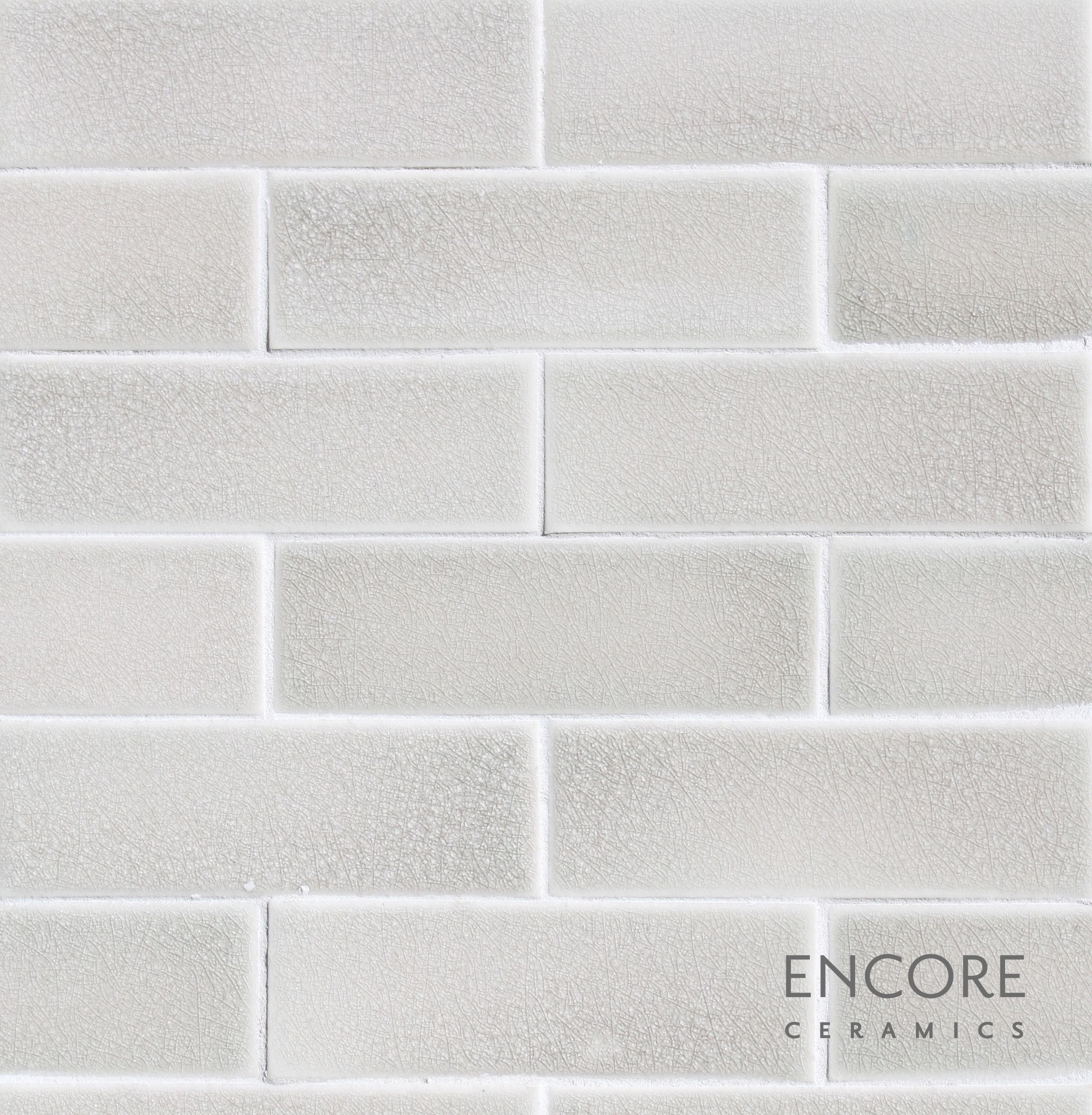 - Encore Ceramics 2 X 6 Field Tile Hand-glazed In Silver Crackle