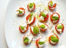 Italian vegetarian food: caprese salad Royalty Free Stock Images