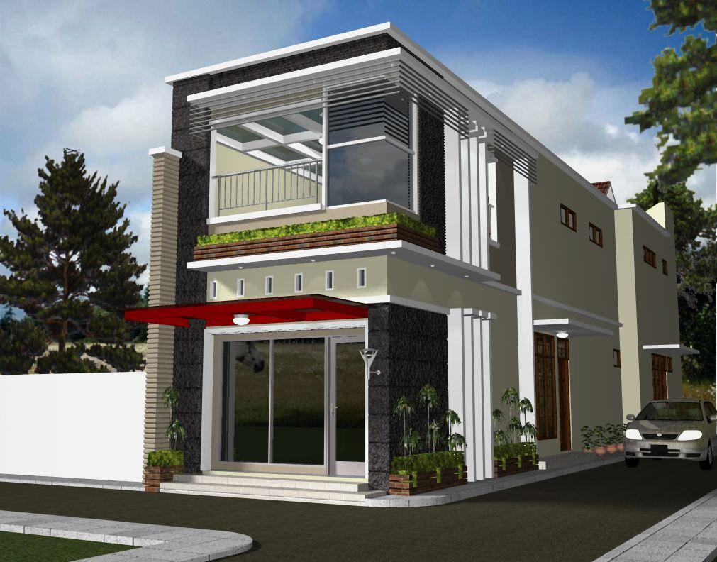 Desain Rumah 2 Lantai Bawah Toko Cek Bahan Bangunan Denah rumah toko minimalis