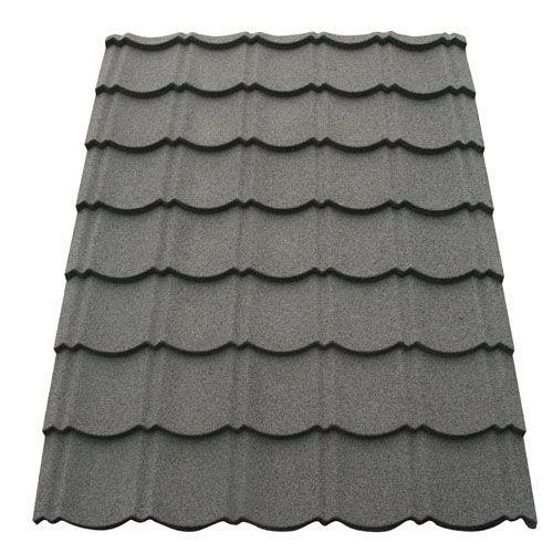 Corotile Lightweight Metal Roofing Sheet Charcoal 1140mm X 890mm Sheet Metal Roofing Roofing Sheets Metal Roof