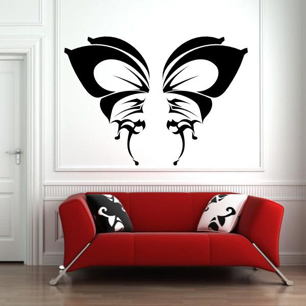 butterfly modern tribal wings for custom color vinyl wall decal