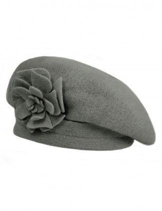 Dahlia Women s Wool Beret Hat - Flower Accented  be571c353505